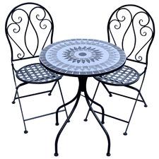 2 Seater Mosaic Romina Outdoor Bistro Set