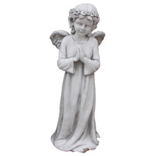 Angel with Wings Fibrestone Statue