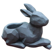 Sitting Rabbit Fibrestone Flower Pot
