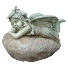 Fairy Laying Fibrestone Statue