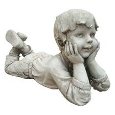 Boy Thinking Fibrestone Statue