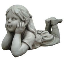 Girl Thinking Fibrestone Statue