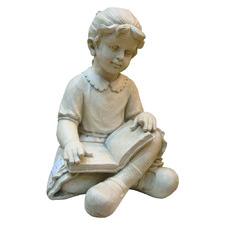 Girl Reading Fibrestone Statue