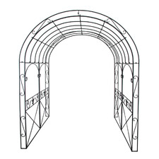 Rustic Brown Arch Metal Garden Gazebo