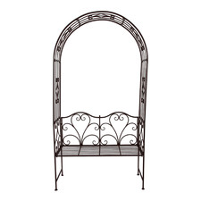 Steel Garden Bench with Arch