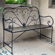 2 Seater Colby Metal Garden Bench