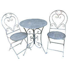 2 Seater Distressed Chloe Outdoor Bistro Set