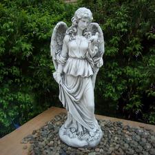 Lady Holding Bird Statue