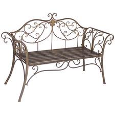 Brown Verona Steel Garden Bench