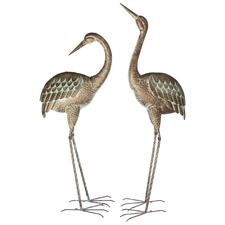 2 Piece Metal Lawn Cranes Set