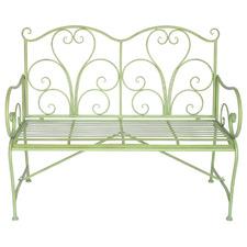 Green Adele Steel Garden Bench