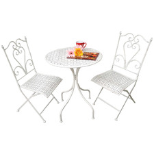 2 Seater Lazio Patio Chair & Side Table Set
