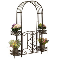 Victorian Steel Garden Arch with Gate