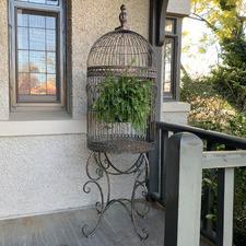 Antique Bronze Bird Cage