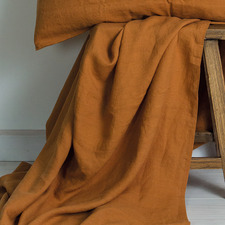 Cinnamon French Linen Flat Sheet