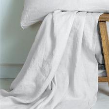 Ivory French Linen Flat Sheet