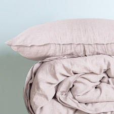Blush Double-Stitched French Linen Pillowcases (Set of 2)