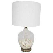 Byron Glass & Shell Table Lamp