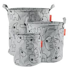 3 Piece Deer Friends Fabric Storage Basket Set