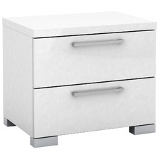 Ellana High Gloss 2 Drawer Bedside Table