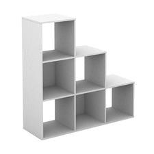 White Nia 6 Cube Shelving Unit