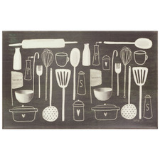 Utensils Comfort Foam Kitchen Mat