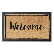 Natural Welcome Printed Coir Doormat
