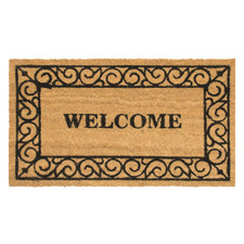 Natural Welcome Coir Doormat
