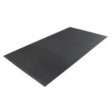 Black Ribbed Rubber Mat