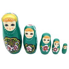 5 Piece Tyree Wooden Russian Dolls Set