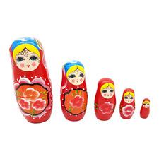 5 Piece Lusha Wooden Russian Nesting Dolls