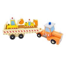Kids' Wooden Engineering Vehicles