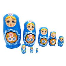 8 Piece Russian Wooden Nesting Dolls