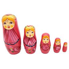 5 Piece Irina Wooden Russian Nesting Dolls