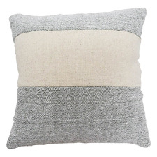 Grey & White Cotton Cushion