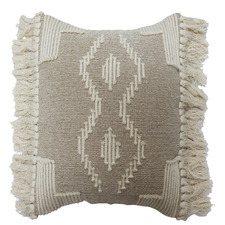 Beige & Cream Cotton Cushion