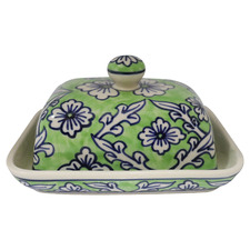 Lime Ceramic Butter Dish