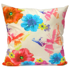 Flower & Butterfly Cotton Cushion