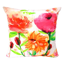 3 Flowers Cotton Cushion