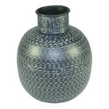 Black Onyx Metal Vase
