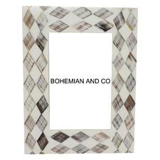 Grey Wood & Horn Photo Frame
