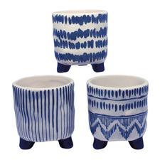 3 Piece Ceramic Pot Planter Set (Set of 3)