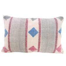 Pink & Grey Cotton Cushion
