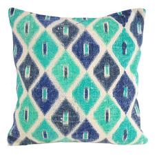 Turquoise & Emerald Diamond Cotton Cushion
