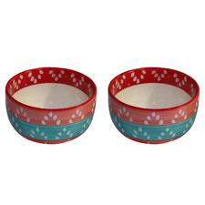 Multi-Coloured Ceramic Soup Bowls (Set of 2)