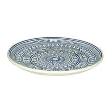 Blue 30cm Ceramic Cake Plate