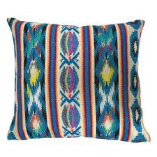 Blue Jacquard Cotton Cushion