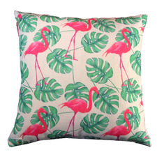 Pink Flamingo Cotton Cushion