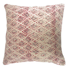 Red & Grey Kilim Woven Cotton Cushion