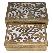 2 Piece Wiktor Wooden Box Set